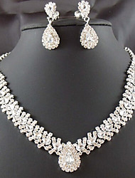 cheap -Crystal Tassel Jewelry Set - Cubic Zirconia, Imitation Diamond Drop Party, Fashion Include White For Party / Special Occasion / Anniversary / Earrings / Necklace