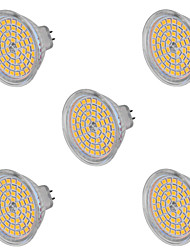 5W GU5.3(MR16) LED Spotlight MR16 60 SMD 2835 400-500 lm Warm White Cold White 2800-3200/6000-6500 K Decorative AC 220-240 AC 12 V 5pcs