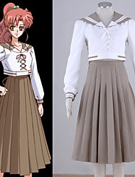 Inspirado por Sailor Moon Sailor Jupiter Anime Fantasias de Cosplay Ternos de Cosplay Patchwork Blusa Saia Para Feminino