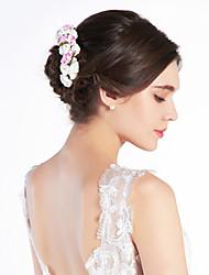 abordables -Cristal Tissu Papier Diadèmes Bandeaux Fleurs 1 Mariage Occasion spéciale Fête / Soirée Casque
