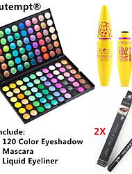 baratos -Sombra para Olhos Rímel Lápis de Olho Maquiagem Olhos Pestana Secos Mate Brilho Prova-de-Água Secagem Rápida Estendido 120 cores Cosmético Artigos para Banho & Tosa