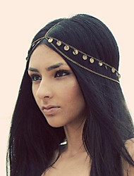 Women Alloy Sequins Tassel Chain Headdress Hair Band Hair Accessories