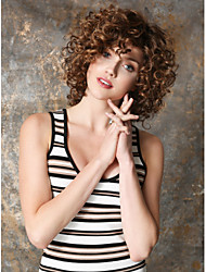 cheap -Synthetic Wig Curly / Kinky Curly Synthetic Hair Wig Women's Short Capless