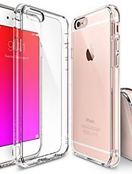 iPhone 7 Plus 6s 6 Plus SE 5s 5 Crystal Clear PC Drop Protection TPU Hard Bumper Case