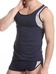cheap -Men's Polyester Undershirt Pajamas Bottoming Vest Outdoor Sports Vest Men's Underwear