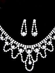 povoljno -Žene Umjetno drago kamenje Imitacija dijamanta Nakit Set Füllbevalók Ogrlice - Slatko Zabava Vjenčan Obala Komplet nakita Za Vjenčanje