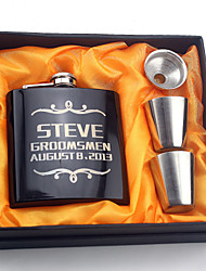 Bride Groom Bridesmaid Groomsman Stainless Steel Hip Flasks Congratulations