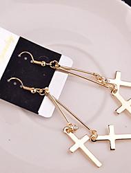 cheap -Women's Drop Earrings - Cross Silver / Golden For Wedding / Party / Daily