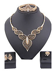 cheap -Women's Gold Plated / Imitation Diamond Cute Jewelry Set Bracelet / Earrings / Necklace - Luxury / Vintage / Party Jewelry Set For