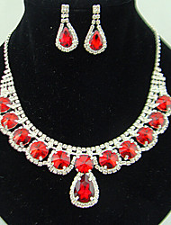 cheap -Women's Jewelry Set Synthetic Ruby Cute Party Fashion Party Special Occasion Anniversary Birthday Gift Gemstone & Crystal Synthetic