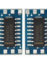 max3232cse мини RS232 в TTL Адаптер последовательного порта доски - глубокий синий (2 шт)