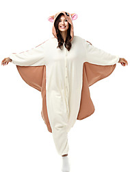 Pyjama Kigurumi  Ecureuil Souris Écureuil volant Combinaison Pyjamas Costume Polaire Fibre synthétique Marron Cosplay Pour Adulte Pyjamas