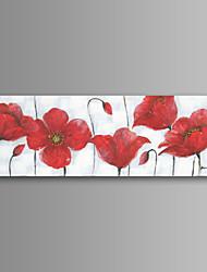 pintado à mão moderna flor parede arte lona impressão decoração de casa