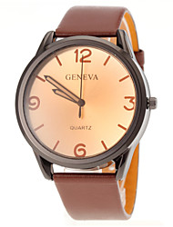 cheap -Men Casual Design PU Band Quartz Watch Wrist Watch Cool Watch Unique Watch
