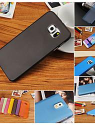 رخيصةأون -غطاء من أجل Samsung Galaxy حالة سامسونج غالاكسي نحيف جداً غطاء خلفي لون سادة الكمبيوتر الشخصي إلى S6 edge plus / S6 edge / S6