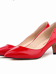 cheap -Women's Shoes Leatherette Spring Fall Stiletto Heel for Office & Career Dress Green Blue Pink Nude Burgundy