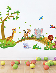 cheap -Animals Cartoon Still Life Wall Stickers Plane Wall Stickers Decorative Wall Stickers,Vinyl Material Removable Home Decoration Wall Decal