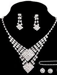 abordables -Ensemble de bijoux Femme Anniversaire / Mariage / Fiançailles / Cadeau / Sorée / Occasion spéciale Parures Alliage StrasColliers
