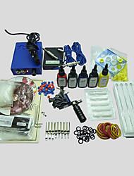 Недорогие -BaseKey Татуировочная машина Набор для начинающих, 1 pcs татуировки машины с 7 x 15 ml татуировки чернила - 1 х Стальная тату-машинка для