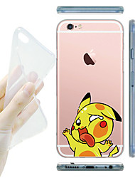 cheap -For iPhone 7 MAYCARI® Knocking on the Windows Transparent TPU Back Case for iPhone 6s 6 Plus