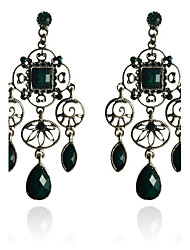 cheap -Drop Earrings Resin Silver Plated Drop Green Jewelry Party Daily Casual 2pcs