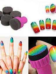 abordables -1 set de bricolage 1 matrice + 4 modifiable éponge ongle Design Art transfert de l'ombre Pochoir