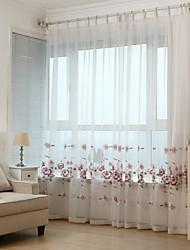 economico -Due pannelli Rustico / Moderno / Neoclassicismo / Mediterraneo / Europeo Floral / botanico / A foglia / Vite Rosso SalottoTessuto