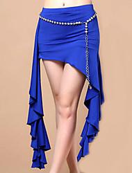 abordables -Danse du ventre Robes et Jupes Femme Spectacle Fibre de Lait Au drapée 1 Pièce Jupe
