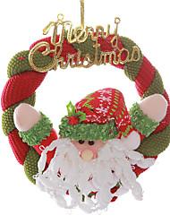 """8 """"joyeux couronne Noël Santa Claus suspendus décoration d'arbre de noël"""