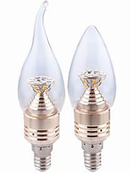 economico -2700-3500 lm E14 Luci LED a candela CA35 25SMD leds SMD 2835 Decorativo Bianco caldo AC 110-130V AC 85-265V CA 220-240 V AC 100-240V
