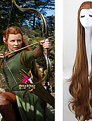 cheap -Women Synthetic Wig Very Long Wavy Brown Costume Wig