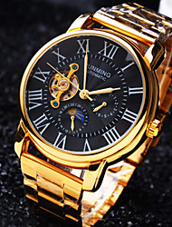 cheap -Men's Business Round Rome Numbe Dial Mineral Glass Mirror Stainless Steel Band Mechanical Waterproof Watch Wrist Watch Cool Watch Unique Watch
