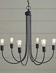 Lámparas Araña ,  Campestre Pintura Característica for Estilo de la vela MetalSala de estar Dormitorio Comedor Habitación de
