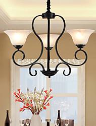 abordables -3-luz Lámparas Araña Luz Ambiente - PHILIPS, 110-120V / 220-240V, Amarillo, Bombilla no incluida / 10-15㎡ / E12 / E14