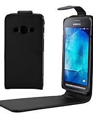 preiswerte -Hülle Für Samsung Galaxy Samsung Galaxy Hülle Flipbare Hülle Ganzkörper-Gehäuse Volltonfarbe PU-Leder für Young 2 Xcover 3 J7 (2016) J5