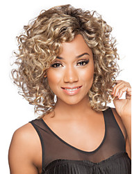 cheap -Synthetic Wig Curly / Kinky Curly Synthetic Hair Blonde Wig Women's Short Capless