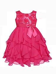 Girl's Blue / Red Dress , Ruffle Summer