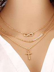 cheap -Women's Infinity Layered Necklace  -  Fashion Infinity Gold Necklace For Special Occasion Birthday Gift