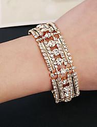 billige -- Simuleret diamant Manchet Armbånd Guld / Sølv Til Bryllup / Fest / Speciel Lejlighed