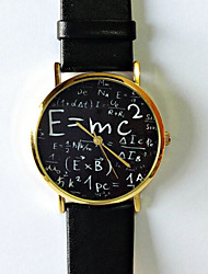 baratos -Mulheres Relógio de Pulso PU Banda Fashion / Relógios com Palavras / Aço Inoxidável