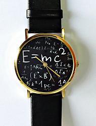 abordables -Mujer Reloj de Pulsera PU Banda Moda / Reloj con palabras / Acero Inoxidable