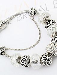 baratos -Feminino Bracelete Liga Moda Prata Jóias 1peça