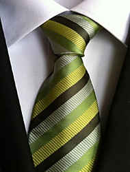 Men Wedding Cocktail Necktie At Work Muti Green Colors Tie
