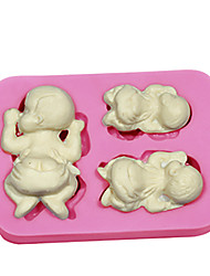cheap -Cute Baby Tummy Birthday Cake Mold Silicone Cupcake Baking Accessories Soap Mold