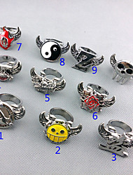 cheap -Jewelry Inspired by One Piece Trafalgar Law Anime Cosplay Accessories Ring Silver Alloy Male
