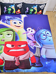 Bedding Set Cartoon Style Bedclothes Inside Out Christmas Gift Soft Bedlinen Sheets for Home 3Pcs Twin Full Queen