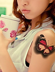 Ultra-Realistic Three-Dimensional Butterfly  Waterproof Flower Arm Temporary Tattoos Stickers Non Toxic Glitter