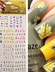 cheap -1 pcs Punk / Fashion Water Transfer Sticker / Nail Jewelry / 3D Nail Stickers Daily / PVC(PolyVinyl Chloride)