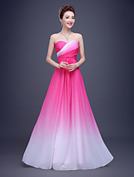 cheap -A-Line Sweetheart Floor Length Chiffon Formal Evening Dress with Draping Side Draping by LAN TING Express