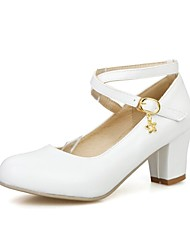 povoljno -Žene Djevojčice Cipele Umjetna koža Proljeće ljeto Cipele na petu za Zabava i večer Crna Bijela Roza Bež
